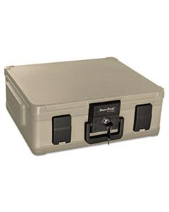 FIRSS104 FIRE AND WATERPROOF CHEST, 0.38 CU FT, 19.9W X 17D X 7.3H, TAUPE