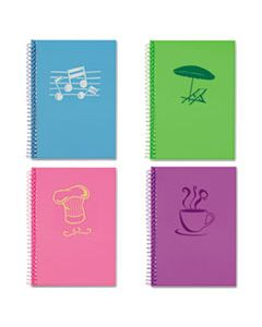 ROA12531 LIFENOTES NOTEBOOK, 1 SUBJECT, MEDIUM/COLLEGE RULE, ASSORTED COLOR COVERS, 7 X 5, 80 SHEETS, 4/PACK