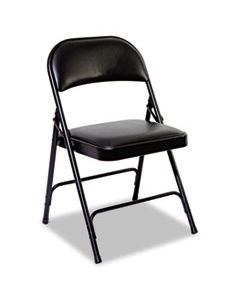ALEFCPD6B STEEL FOLDING CHAIR, GRAPHITE SEAT/GRAPHITE BACK, GRAPHITE BASE, 4/CARTON
