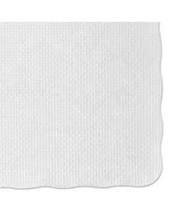 HFMPM32052 KNURL EMBOSSED SCALLOPED EDGE PLACEMATS, 9.5 X 13.5, WHITE, 1,000/CARTON