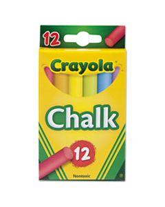 CYO510816 CHALK, 6 ASSORTED COLORS, 12 STICKS/BOX