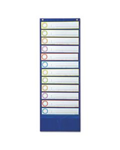 CDP158031 DELUXE SCHEDULING POCKET CHART, 12 POCKETS, 13 X 36