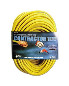 COC25890002 VINYL OUTDOOR EXTENSION CORD, 100 FT, 15 AMP, YELLOW