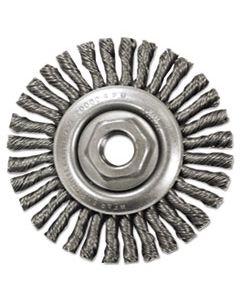 "ANB12685 STRINGER-BEAD TWIST-KNOT WHEEL, 4 1/2"" DIA, 13/16"" TRIM, .20 WIRE, 5/8"" ARBOR"