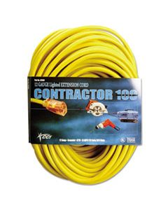 COC25880002 VINYL OUTDOOR EXTENSION CORD, 50 FT, 15 AMP, YELLOW