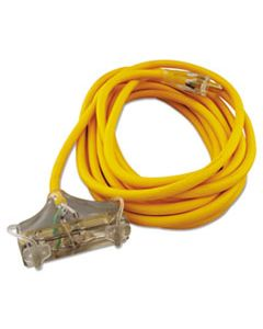 COC03487 POLAR/SOLAR OUTDOOR EXTENSION CORD, 25FT, THREE-OUTLETS, YELLOW
