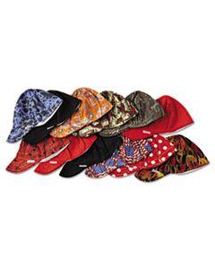 CMX1000712 DEEP ROUND CROWN CAP, SIZE 7 1/2, ASSORTED PRINTS