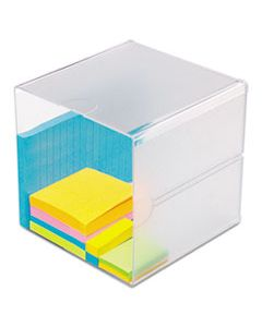 DEF350401 STACKABLE CUBE ORGANIZER, 6 X 6 X 6, CLEAR