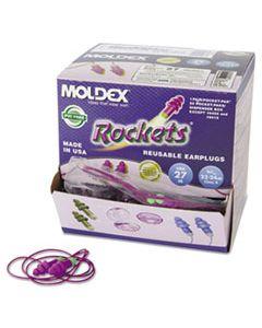 MLX6404 ROCKETS REUSABLE EARPLUGS, CORDED, 27NRR, BAG