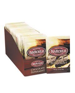PCO79424 PREMIUM HOT COCOA, CHOCOLATE PEPPERMINT, 24/CARTON