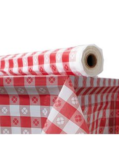 """ATL2TCR300GIN PLASTIC TABLE COVER, 40"""" X 300 FT ROLL, RED GINGHAM"""