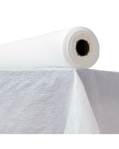 "ATL2TCWPBL PLASTIC TABLE COVER, 40"" X 300FT, WHITE"