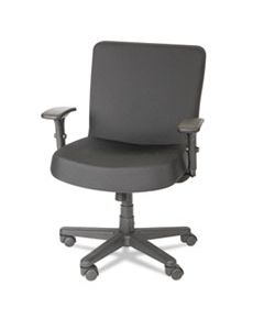 ALECP210 ALERA XL SERIES BIG AND TALL MID-BACK TASK CHAIR, SUPPORTS UP TO 500 LBS., BLACK SEAT/BLACK BACK, BLACK BASE
