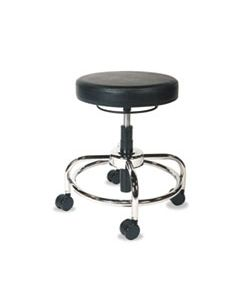 """ALECS614 ALERA HL SERIES HEIGHT-ADJUSTABLE UTILITY STOOL , 24"""" SEAT HEIGHT, SUPPORTS UP TO 300 LBS., BLACK SEAT/BACK, CHROME BASE"""