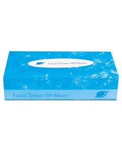 GENFACIAL30100 BOXED FACIAL TISSUE, 2-PLY, WHITE, 100 SHEETS/BOX