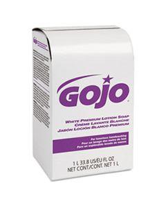 GOJ2104 WHITE PREMIUM LOTION SOAP, SPRING RAIN SCENT, NXT 1000 ML REFILL, 8/CARTON
