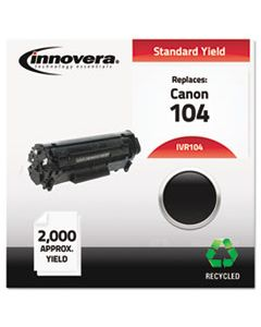 IVR104 REMANUFACTURED 0263B001AA (104) TONER, 2000 PAGE-YIELD, BLACK