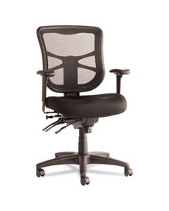 ALEEL42ME10B ALERA ELUSION SERIES MESH MID-BACK MULTIFUNCTION CHAIR, SUPPORTS UP TO 275 LBS., BLACK SEAT/BLACK BACK, BLACK BASE