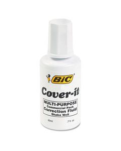 BICWOC12WE COVER-IT CORRECTION FLUID, 20 ML BOTTLE, WHITE