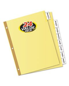 AVE11115 INSERTABLE BIG TAB DIVIDERS, 8-TAB, LETTER, 24 SETS