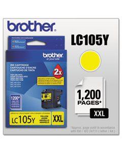 BRTLC105Y LC105Y INNOBELLA SUPER HIGH-YIELD INK, 1200 PAGE-YIELD, YELLOW