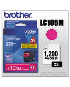 BRTLC105M LC105M INNOBELLA SUPER HIGH-YIELD INK, 1200 PAGE-YIELD, MAGENTA