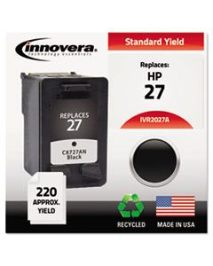 IVR2027A REMANUFACTURED C8727AN (27) INK, 220 PAGE-YIELD, BLACK