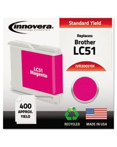 IVR20051M REMANUFACTURED LC51M INK, 400 PAGE-YIELD, MAGENTA