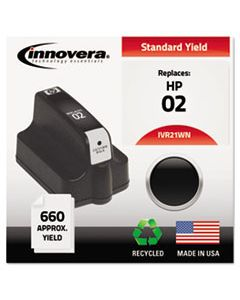 IVR21WN REMANUFACTURED C8721WN (02) INK, 660 PAGE-YIELD, BLACK