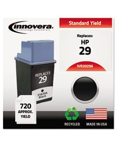 IVR2029A REMANUFACTURED 51629A (29) INK, 720 PAGE-YIELD, BLACK