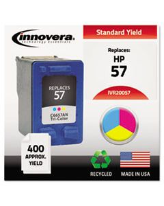 IVR20057 REMANUFACTURED C6657AN (57) INK, 400 PAGE-YIELD, TRI-COLOR