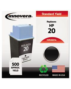 IVR20014 REMANUFACTURED C6614DN (20) INK, 500 PAGE-YIELD, BLACK