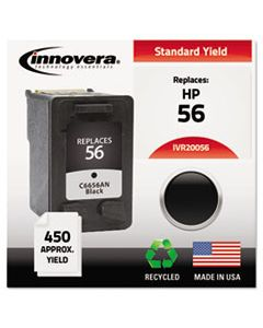 IVR20056 REMANUFACTURED C6656AN (56) INK, 450 PAGE-YIELD, BLACK