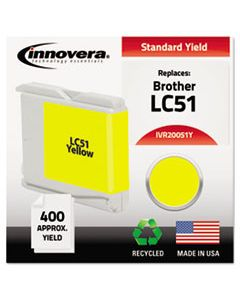 IVR20051Y REMANUFACTURED LC51Y INK, 400 PAGE-YIELD, YELLOW
