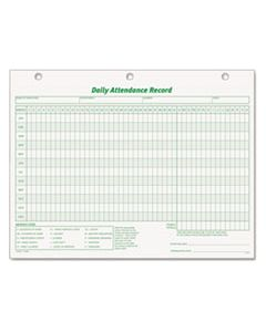TOP3284 DAILY ATTENDANCE CARD, 8 1/2 X 11, 50 FORMS