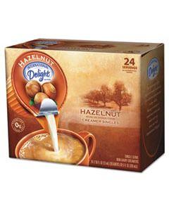ITD100680 COFFEE CREAMER, HAZELNUT, 0.4375 OZ LIQUID, 24/BOX