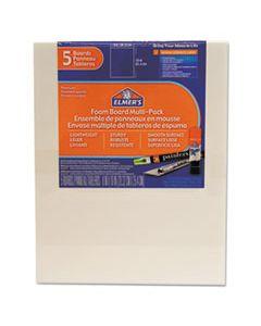 EPI950020 WHITE PRE-CUT FOAM BOARD MULTI-PACKS, 8 X 10, 5/PK