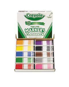 CYO588210 FINE LINE CLASSPACK NON-WASHABLE MARKER, FINE BULLET TIP, ASSORTED COLORS, 200/BOX