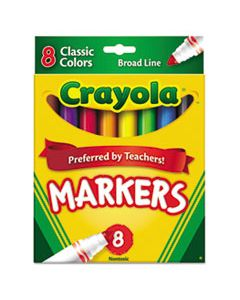 CYO587708 NON-WASHABLE MARKER, BROAD BULLET TIP, ASSORTED COLORS, 8/PACK