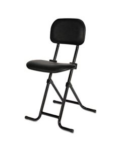 "ALECS612 ALERA IL SERIES HEIGHT-ADJUSTABLE FOLDING STOOL, 27.5"" SEAT HEIGHT, SUPPORTS UP TO 300 LBS., BLACK SEAT/BACK, BLACK BASE"