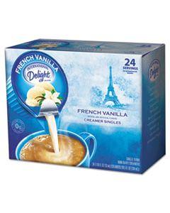 ITD100681 FLAVORED LIQUID NON-DAIRY COFFEE CREAMER, FRENCH VANILLA, 0.4375 OZ CUP, 24/BOX