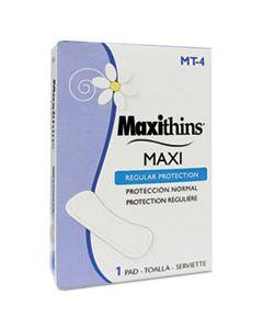 HOSMT4 MAXITHINS VENDED SANITARY NAPKINS #4, 250 INDIVIDUALLY BOXED NAPKINS/CARTON