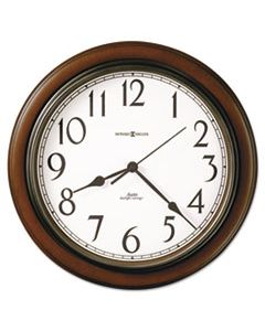 "MIL625417 TALON AUTO DAYLIGHT-SAVINGS WALL CLOCK, 15.25"" OVERALL DIAMETER, CHERRY CASE, 1 AA (SOLD SEPARATELY)"