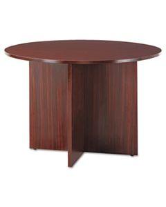 ALEVA7142MY ALERA VALENCIA ROUND CONFERENCE TABLE W/LEGS, 29 1/2H X 42 DIA., MAHOGANY