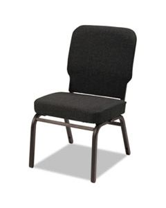 ALEBT6610 OVERSIZE STACK CHAIR WITHOUT ARMS, FABRIC UPHOLSTERY, BLACK SEAT/BLACK BACK, BLACK BASE, 2/CARTON
