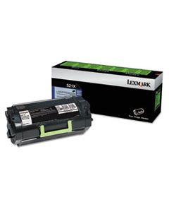 LEX52D1X00 52D1X00 EXTRA HIGH-YIELD TONER, 45000 PAGE-YIELD, BLACK
