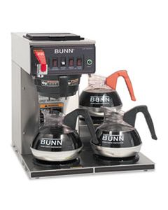 BUNCWTF153LP CWTF-3 THREE BURNER AUTOMATIC COFFEE BREWER, STAINLESS STEEL, BLACK