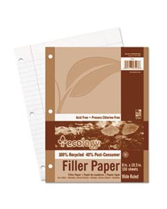 PAC3203 ECOLOGY FILLER PAPER, 3-HOLE, 8 X 10.5, WIDE/LEGAL RULE, 150/PACK