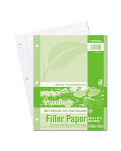 PAC3202 ECOLOGY FILLER PAPER, 3-HOLE, 8.5 X 11, MEDIUM/COLLEGE RULE, 150/PACK
