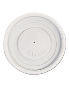 SCCVL34R0007 POLYSTYRENE VENTED HOT CUP LIDS, 4OZ CUPS, WHITE, 100/PACK, 10 PACKS/CARTON